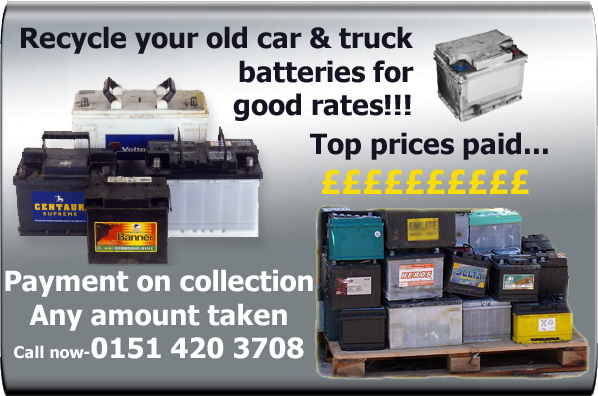 batteries recycled